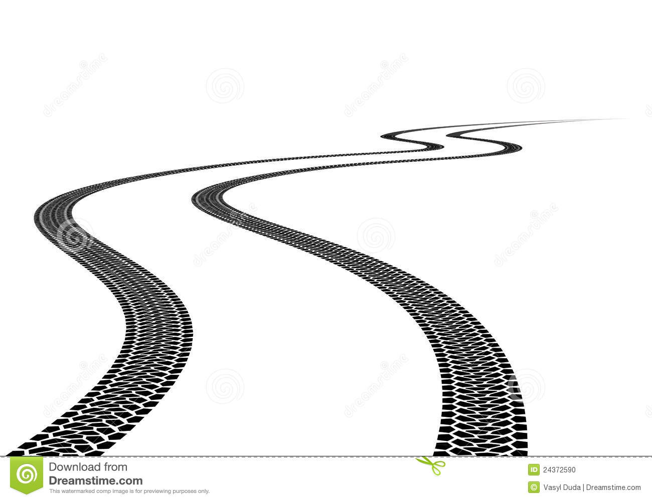 Car On Tracks Clipart