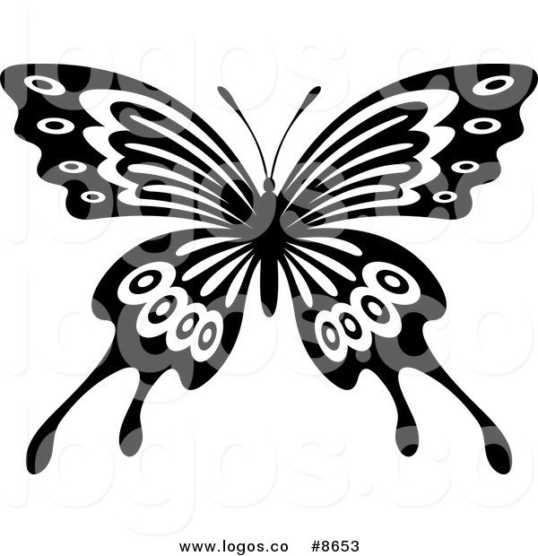 Butterfly Wings Black And White Clipart Clipground