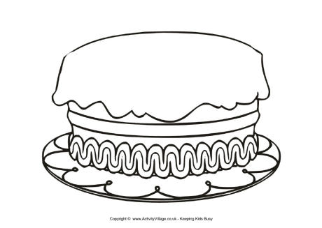 Cake Clipart Black And White No Candles Clipground