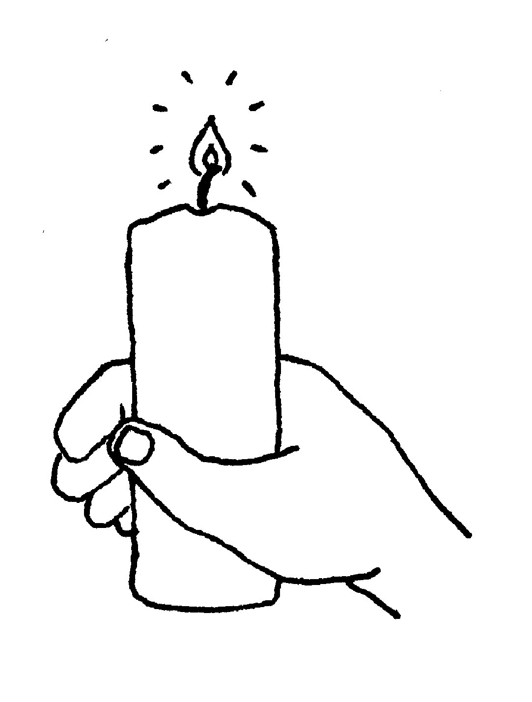 Candles And Crosses Clipart