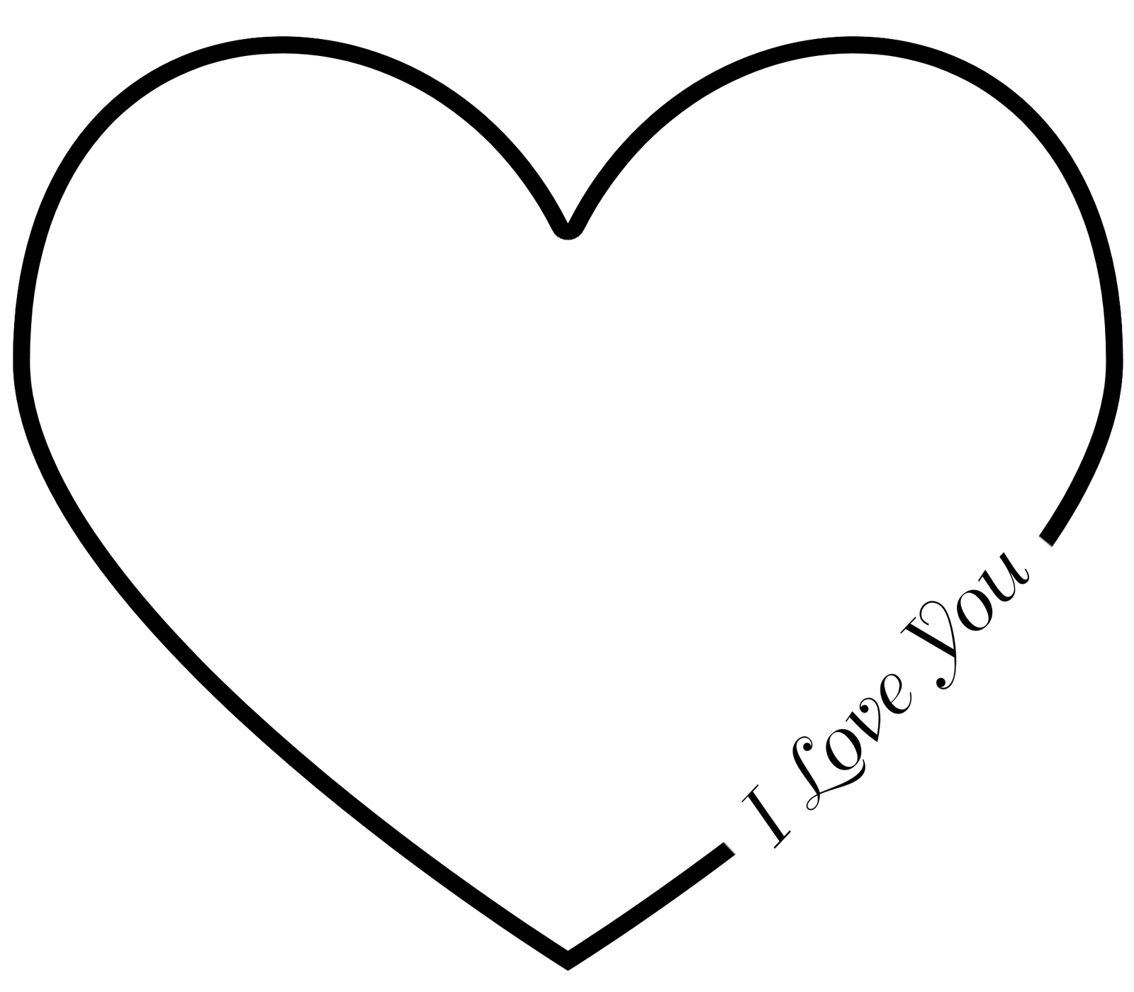 Carved Heart Outline Clipart 20 Free Cliparts