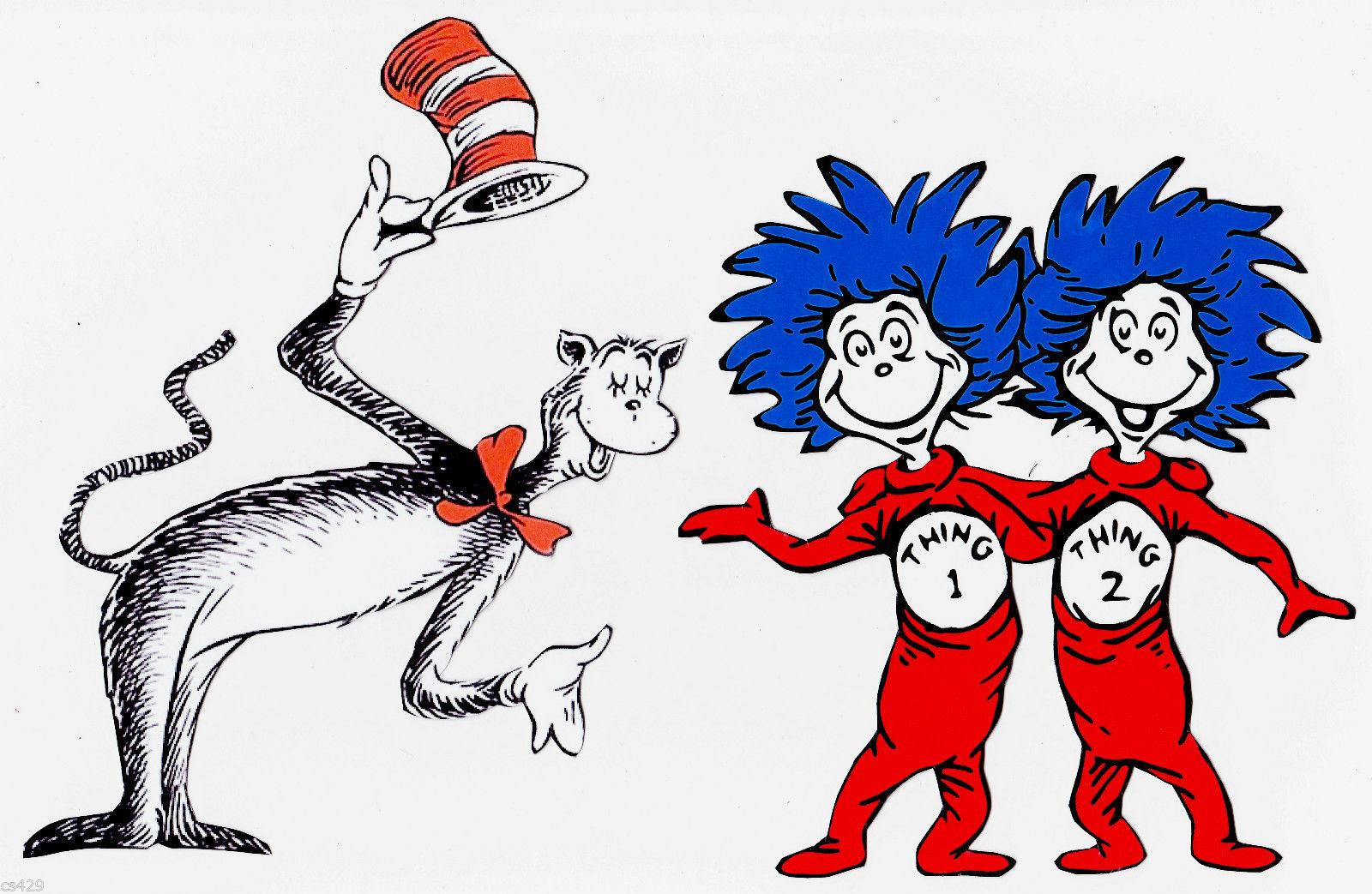Dr Seuss Characters Clip Art Images Black Outline