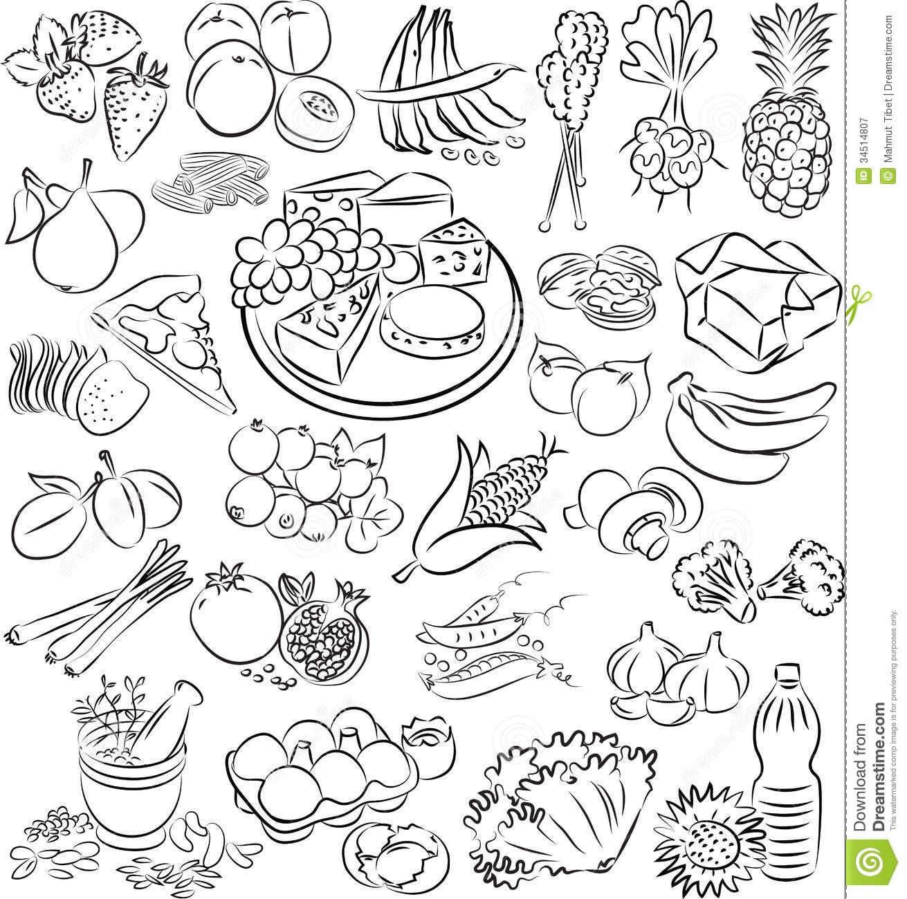 Catfish Food Clipart Black White