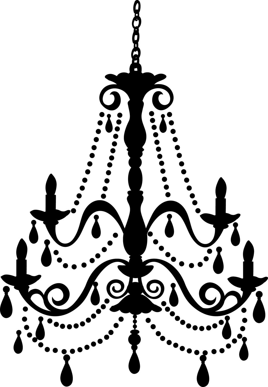 White Chandelier Clip Art