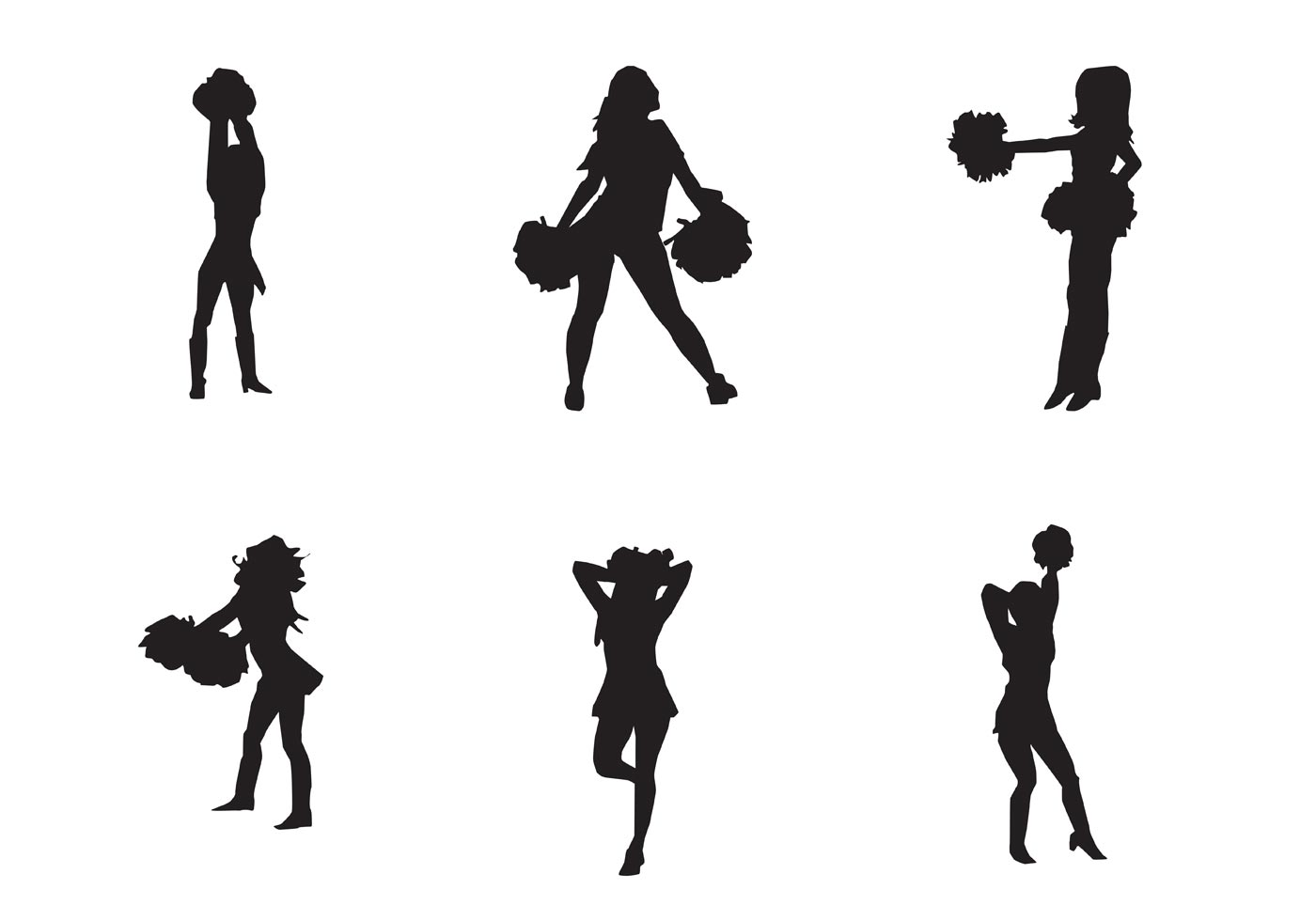 Cheer Silhouette Clipart