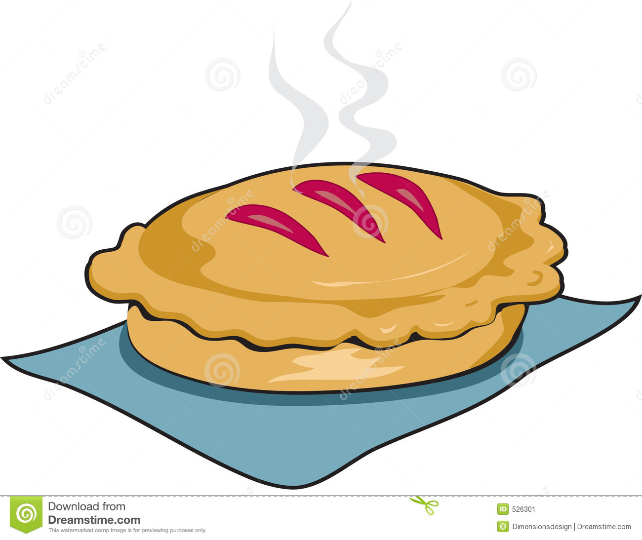 Cherry Pie Slice Outline