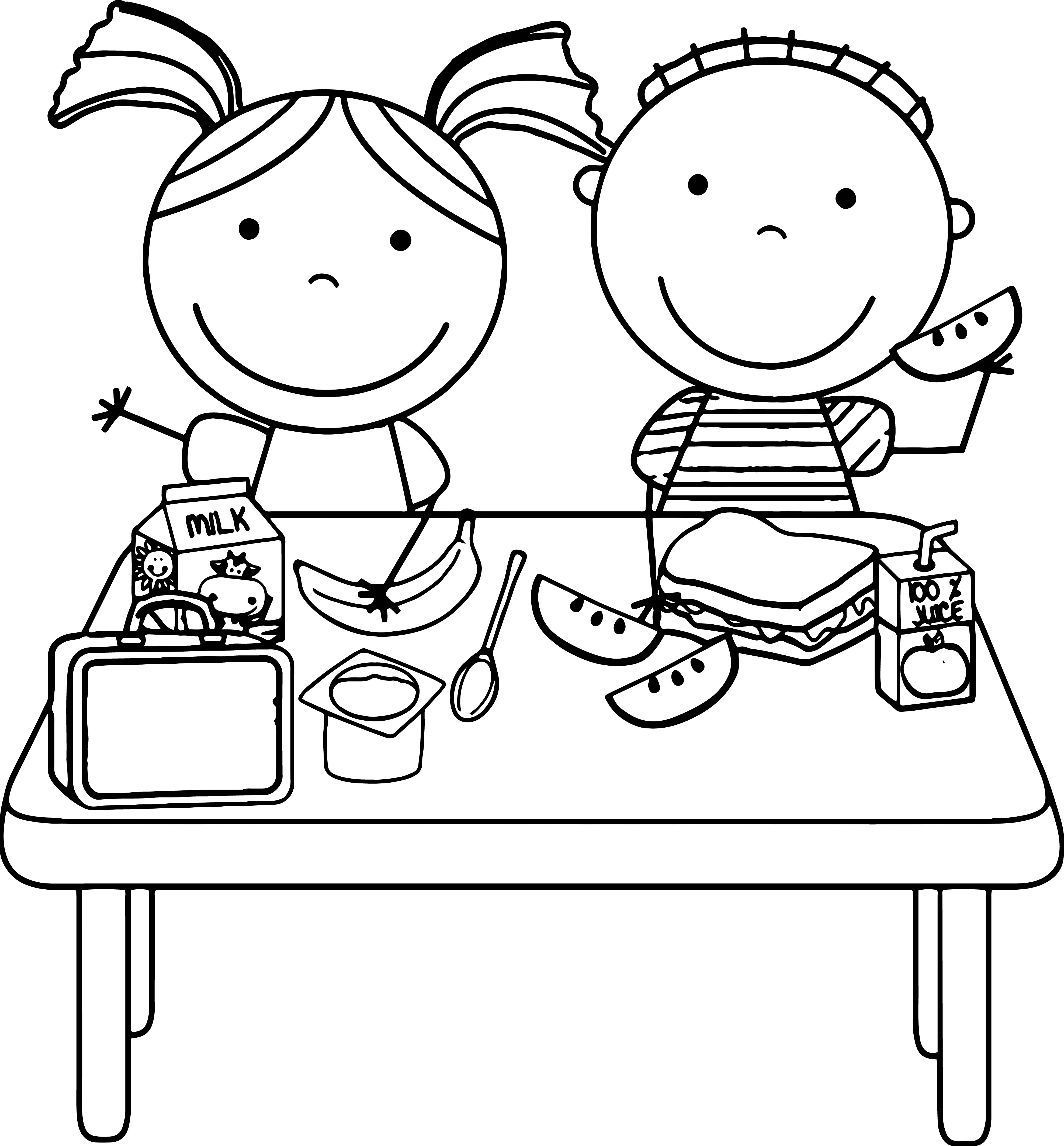 Children Eating Clipart Color Page 20 Free Cliparts
