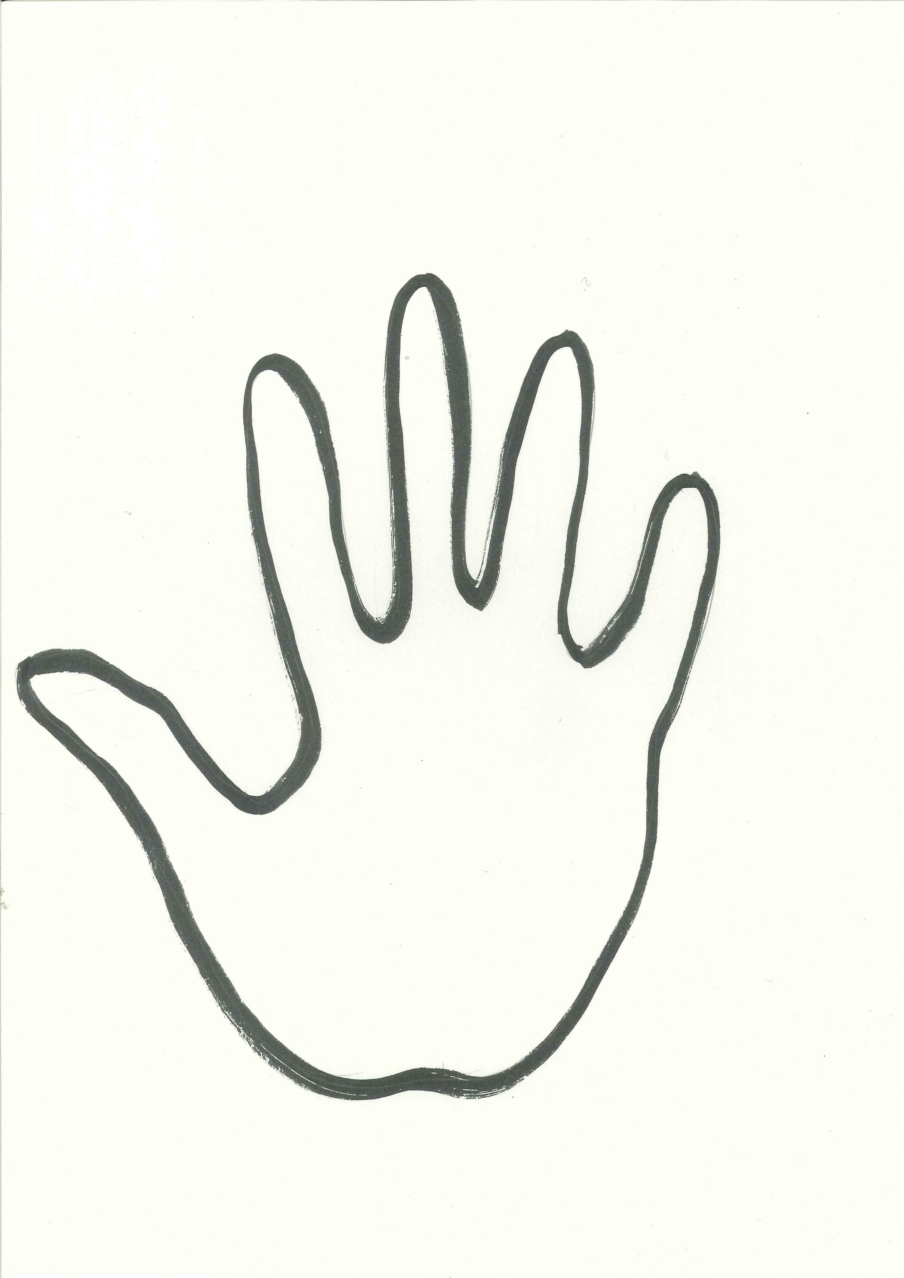 Handprint Outline Clipart