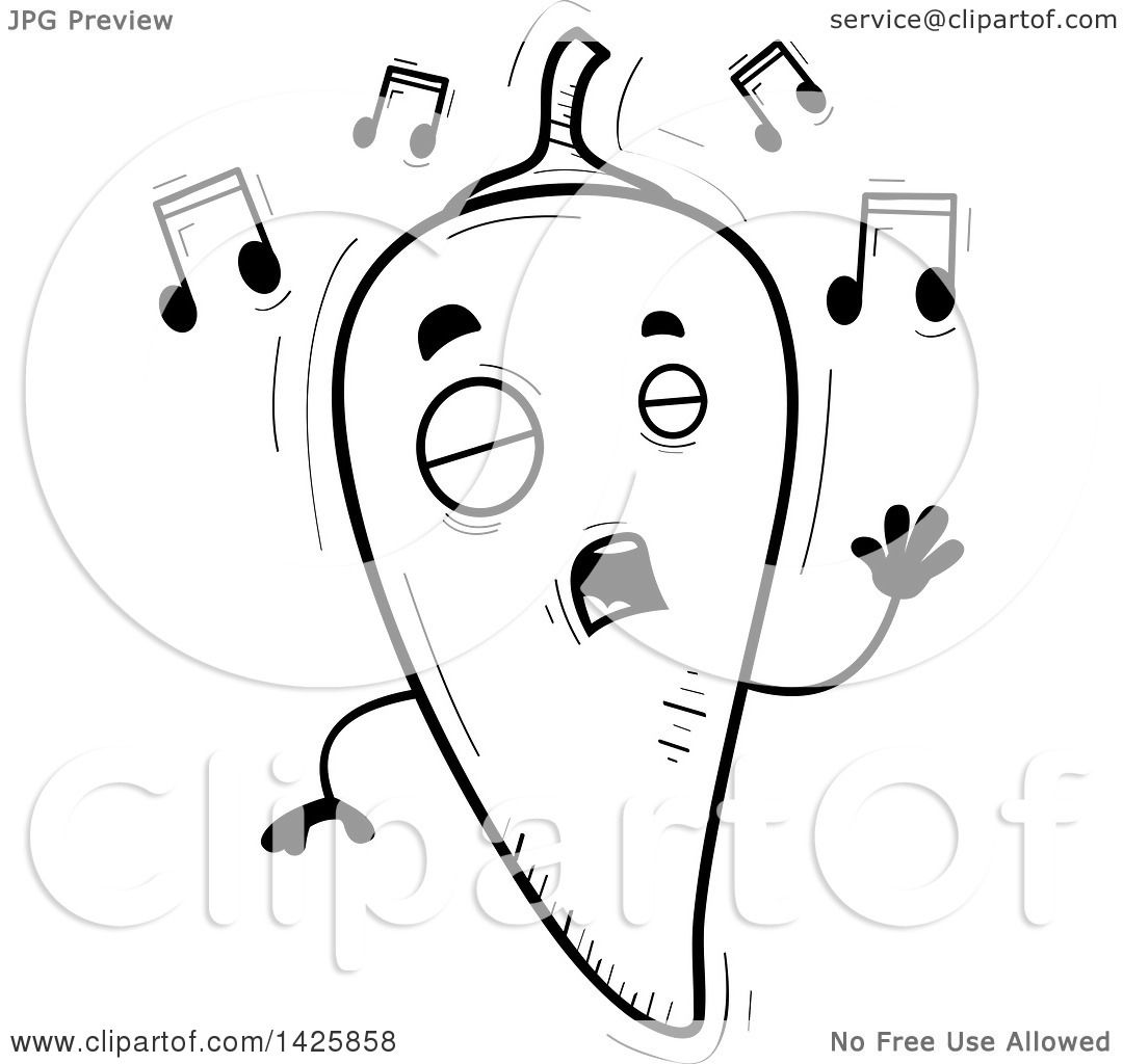 Chile Black And White Clipart