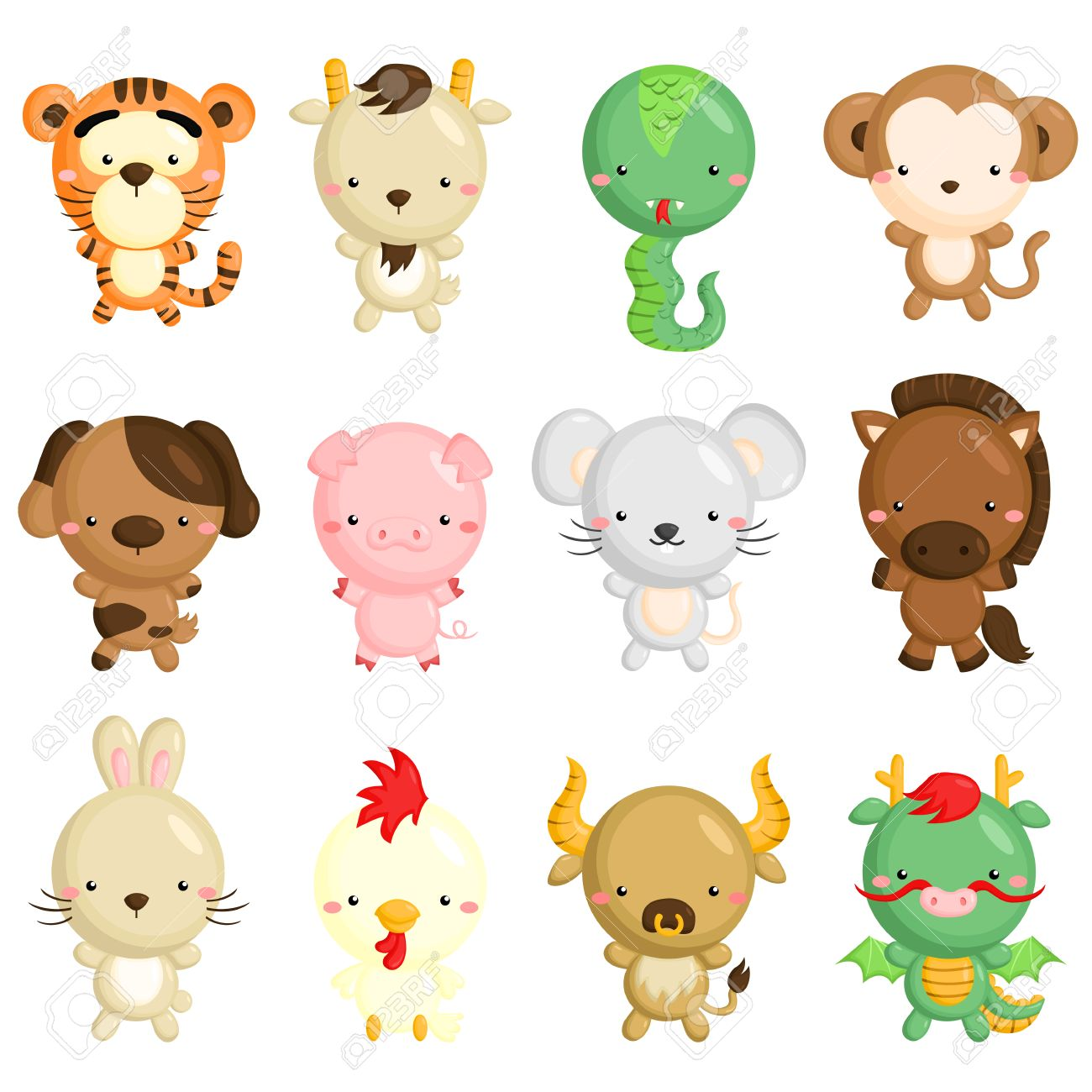Chinese Zodiac Animals Clipart 20 Free Cliparts