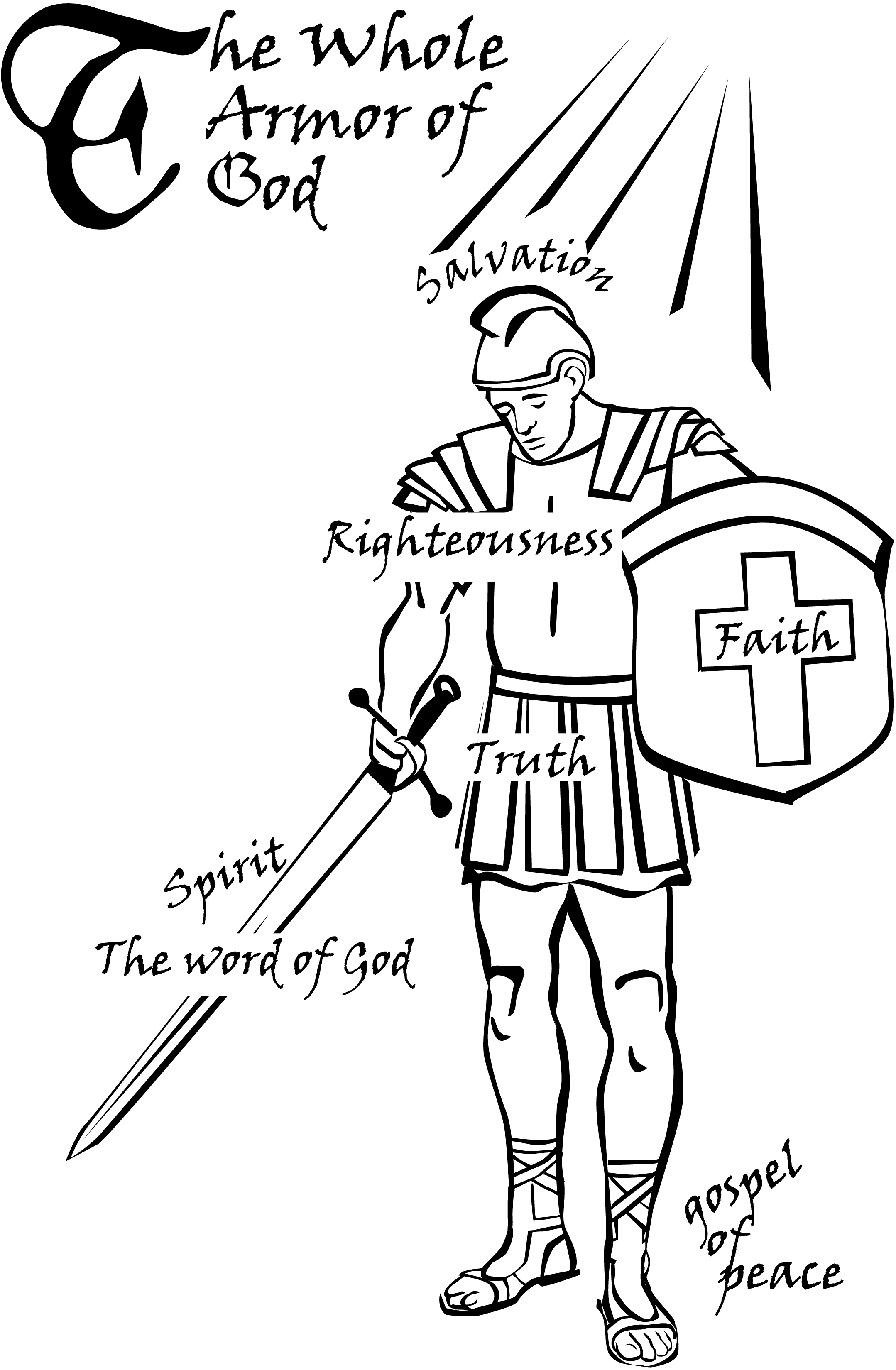 Christian Clipart Of Full Body Of Armor