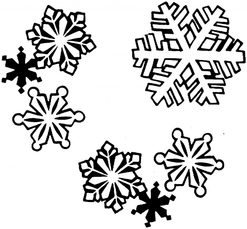 Christmas Clipart Black And White Snowflake