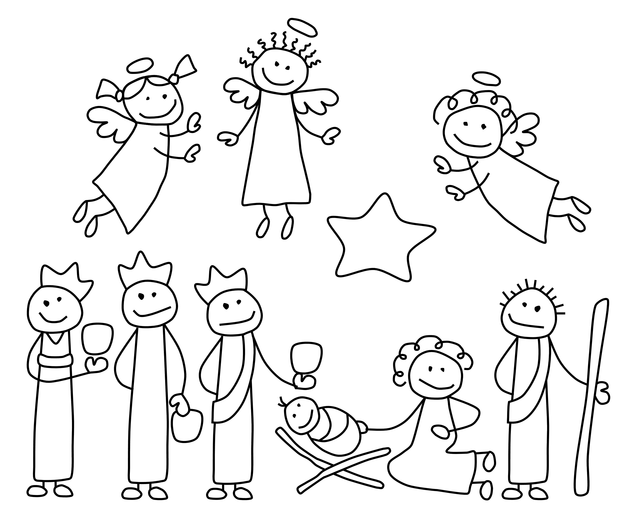 Nativity Scene Figures Clipart