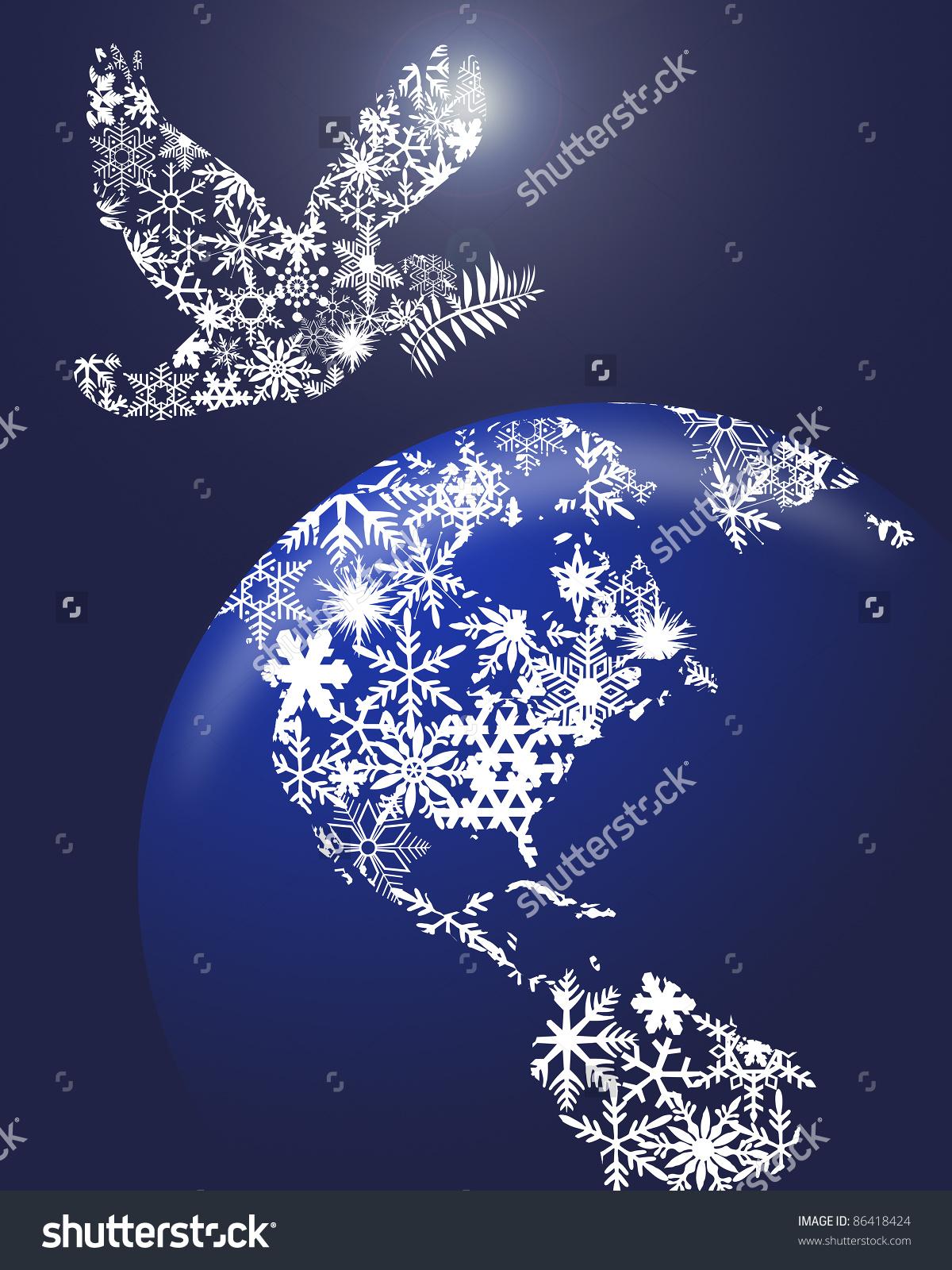 Christmas Peace Dove Clip Art Clipground