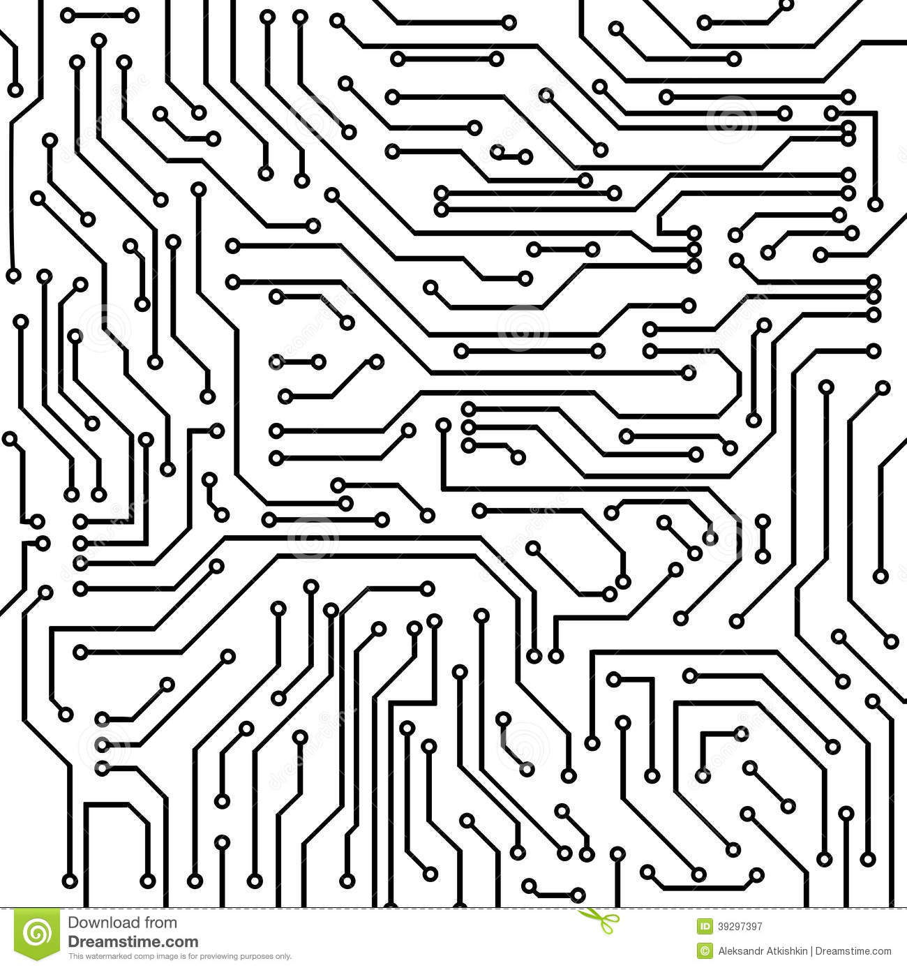 Black And White Circuit Board Clipart