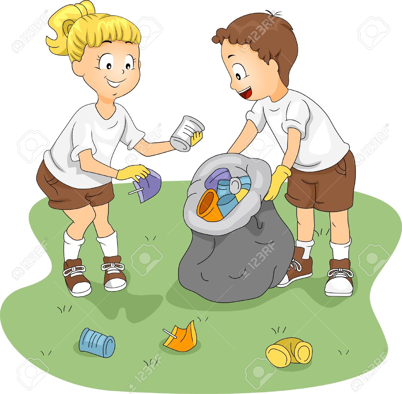 Cleaning Garbage Clipart