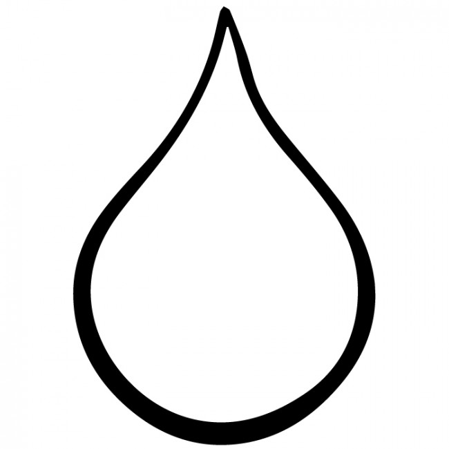 Tear Drop Coloring Page