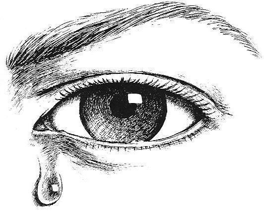 Tear Drop Coloring Page