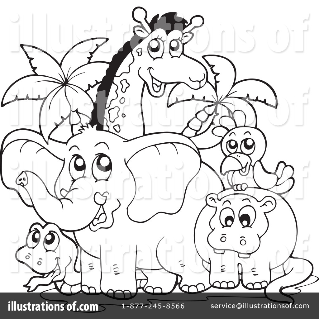Clipart Black And White Zoo
