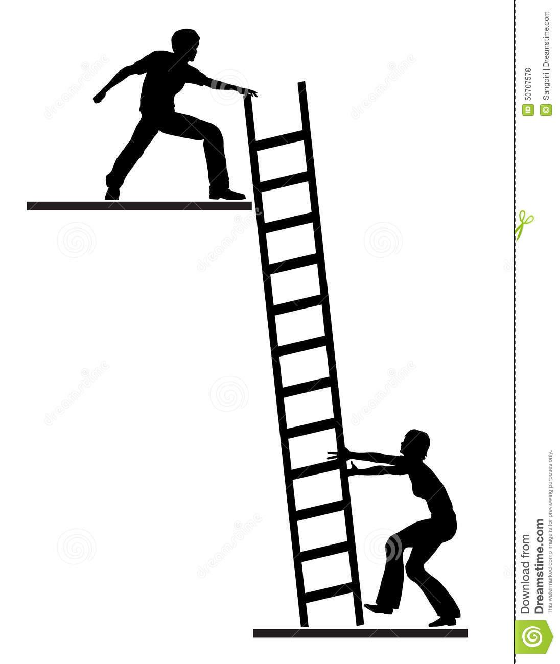 Clipart Climbing Laddar Silhouette