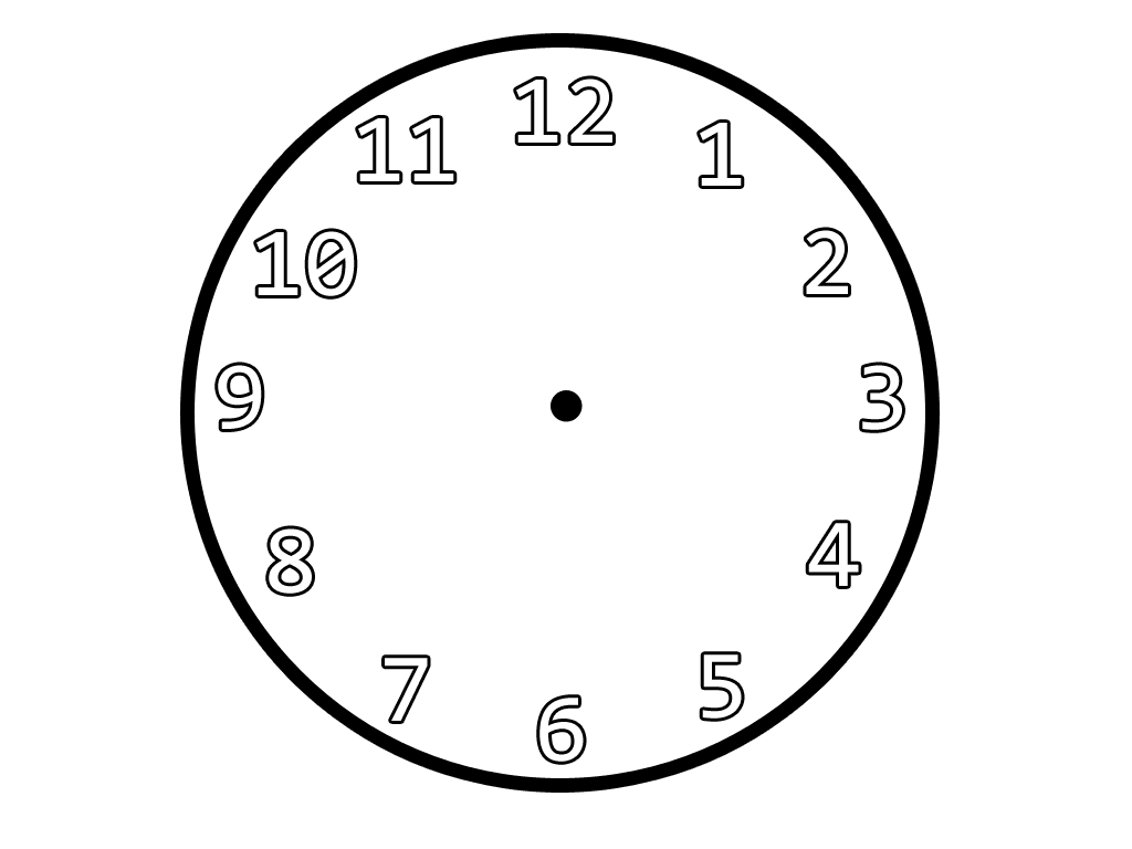 Clipart Clock Outline