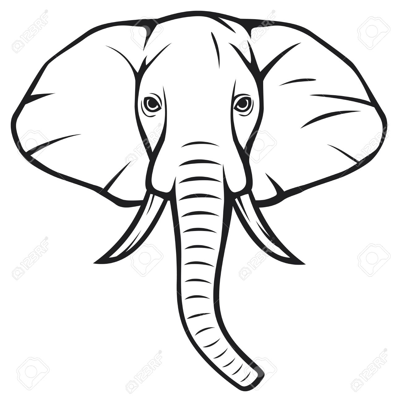 Clipart Elephant Face 20 Free Cliparts