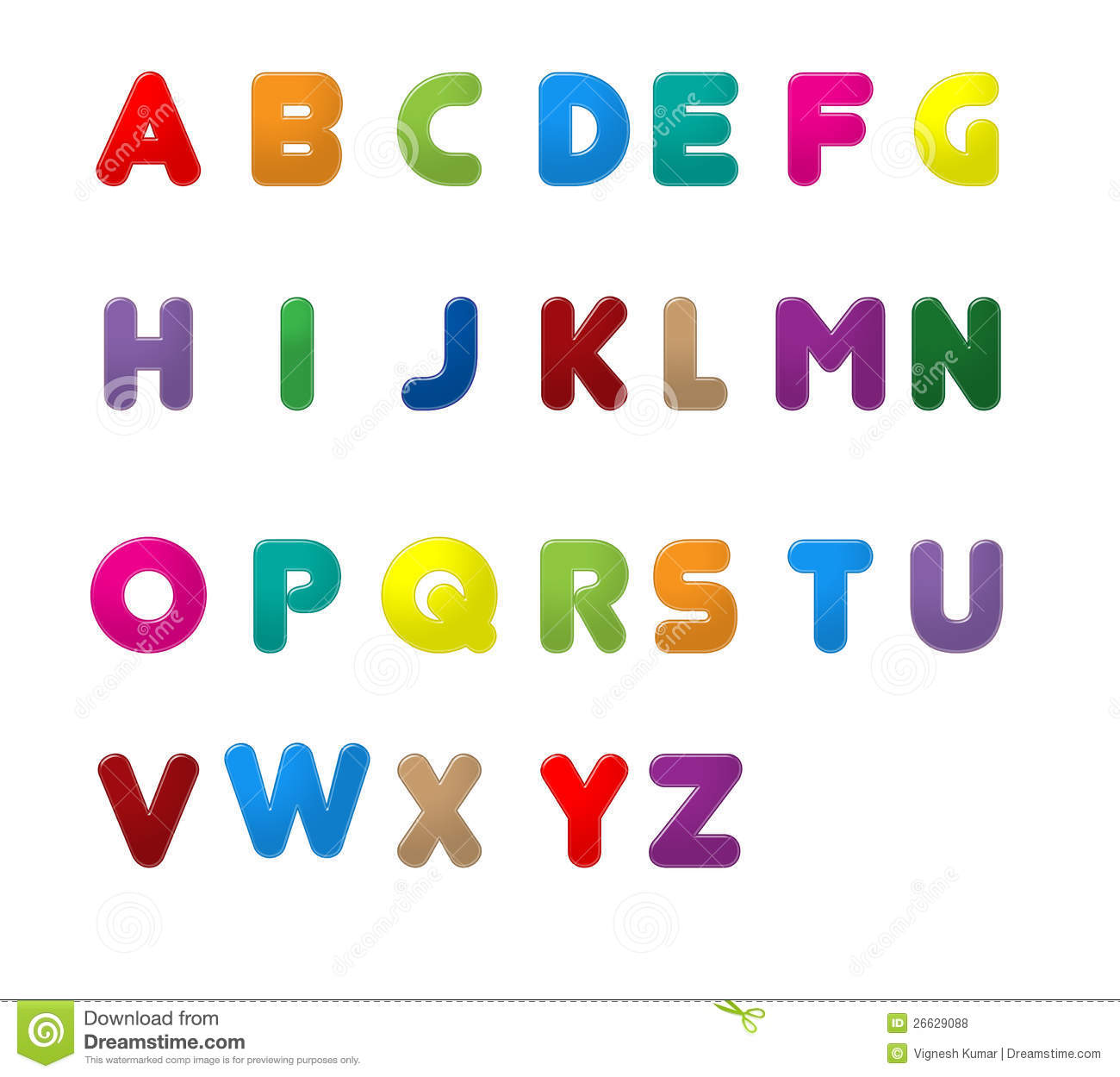 Clipart English Letters