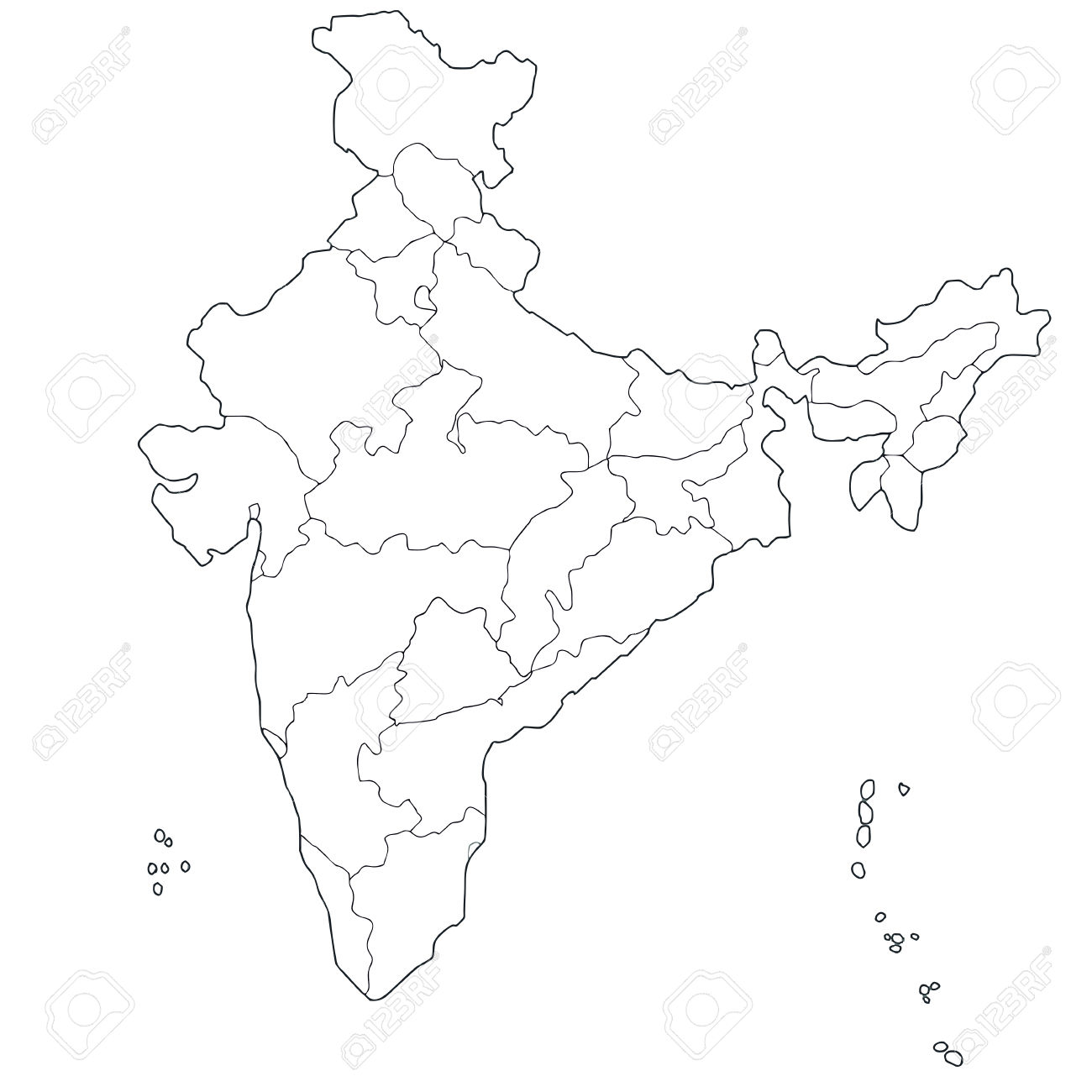 Clipart Maps Of India 20 Free Cliparts