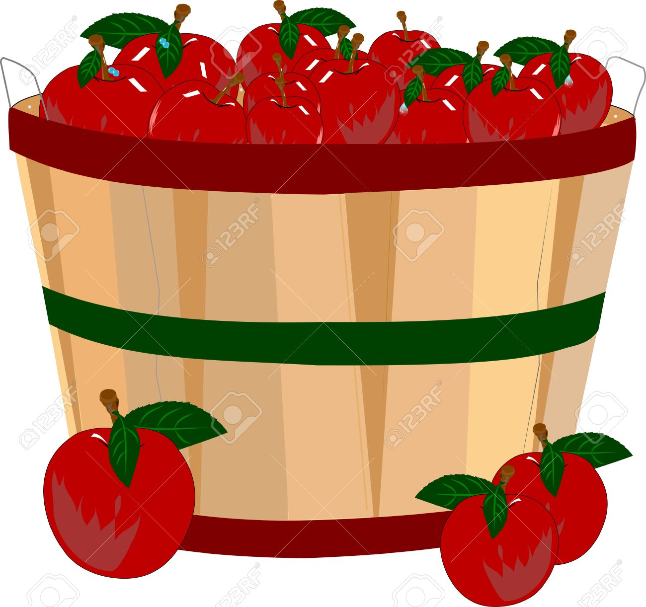 Clipart Of Apples In A Basket