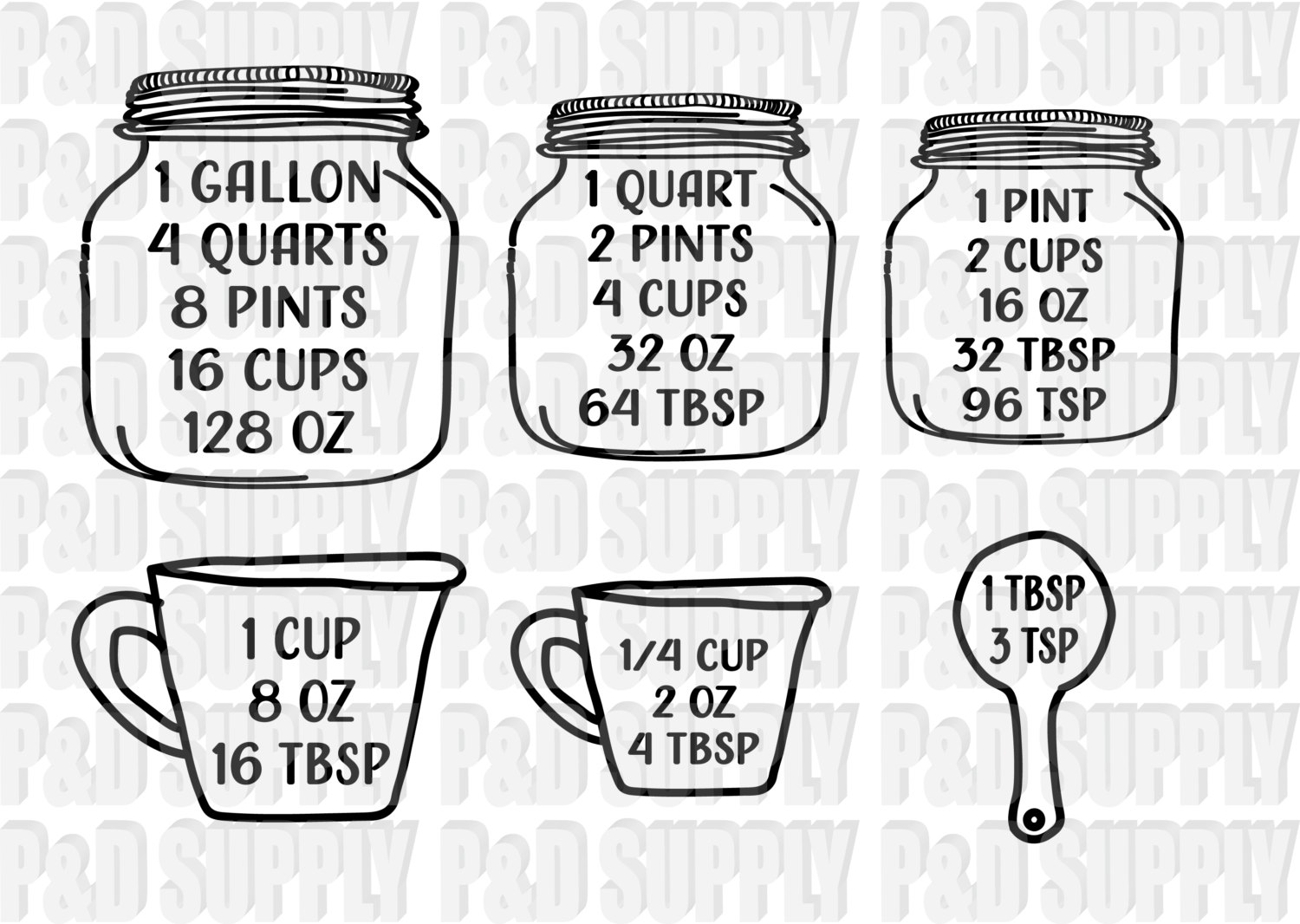 Clipart Silhouette Quart Pint Gallon 20 Free Cliparts