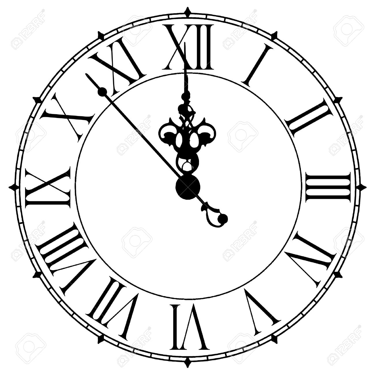 Clock Clipart Midnight 20 Free Cliparts