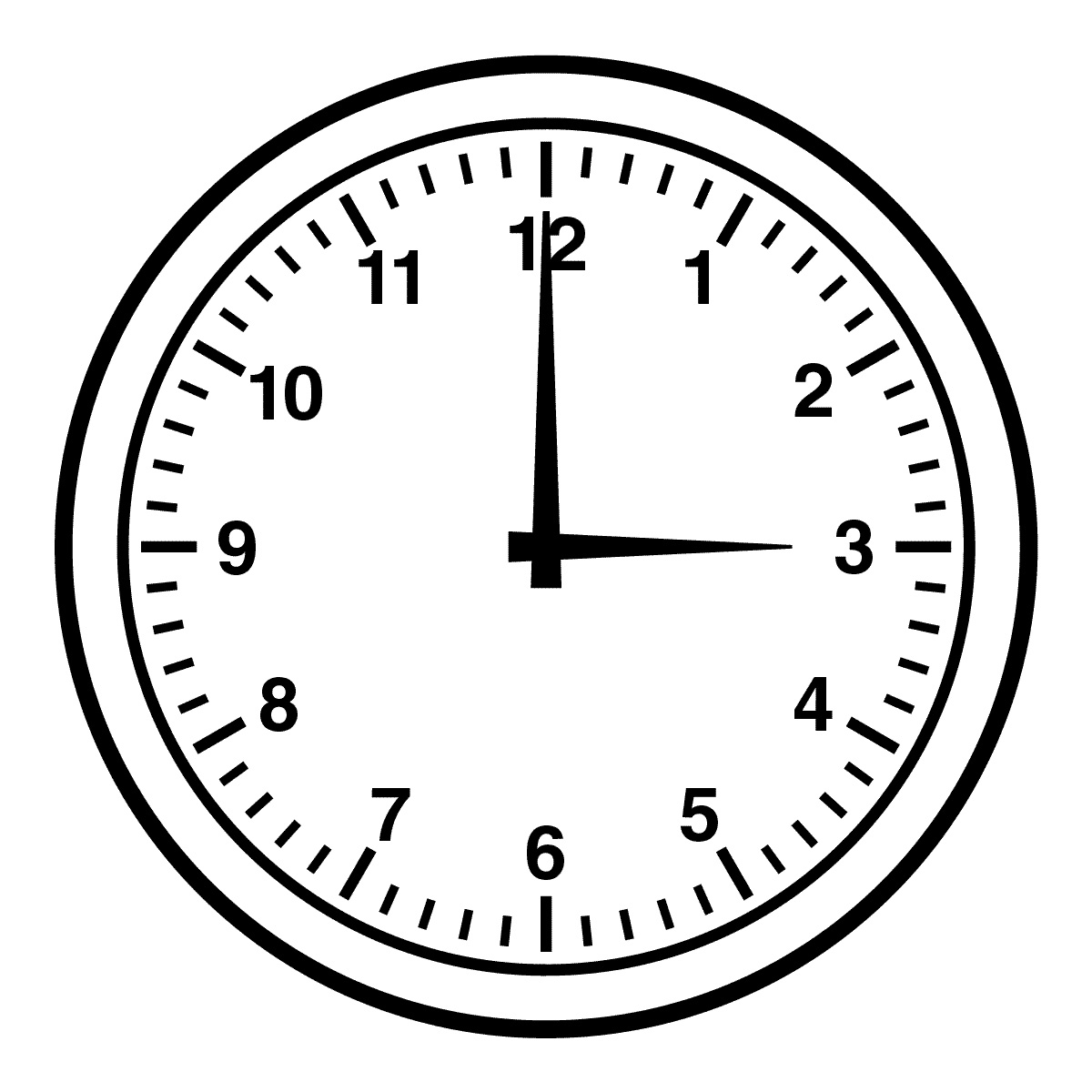 Black And White Alarm Clock Clipart