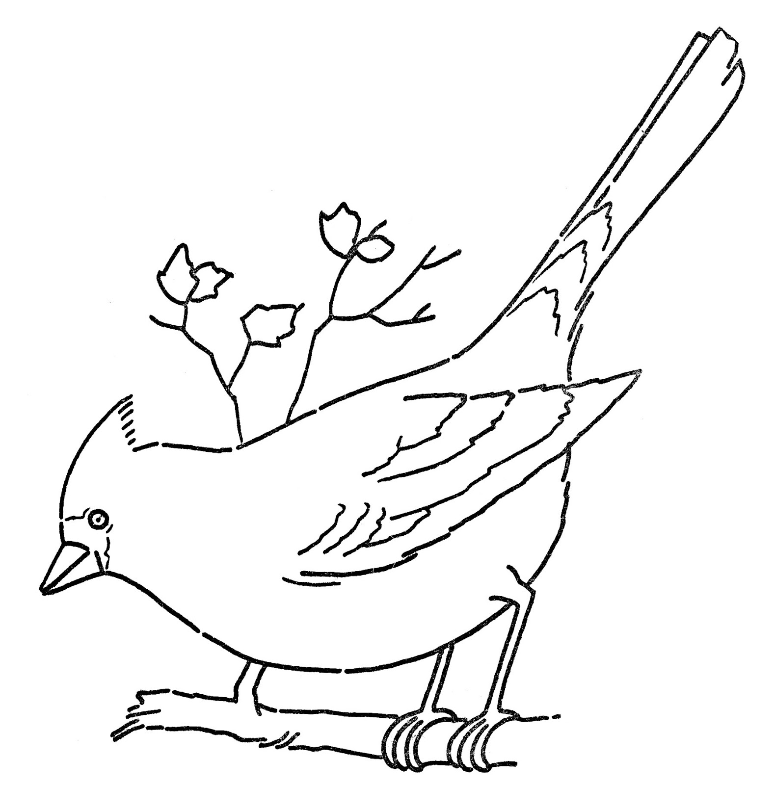 Village Girl And Bird Clipart Black And White