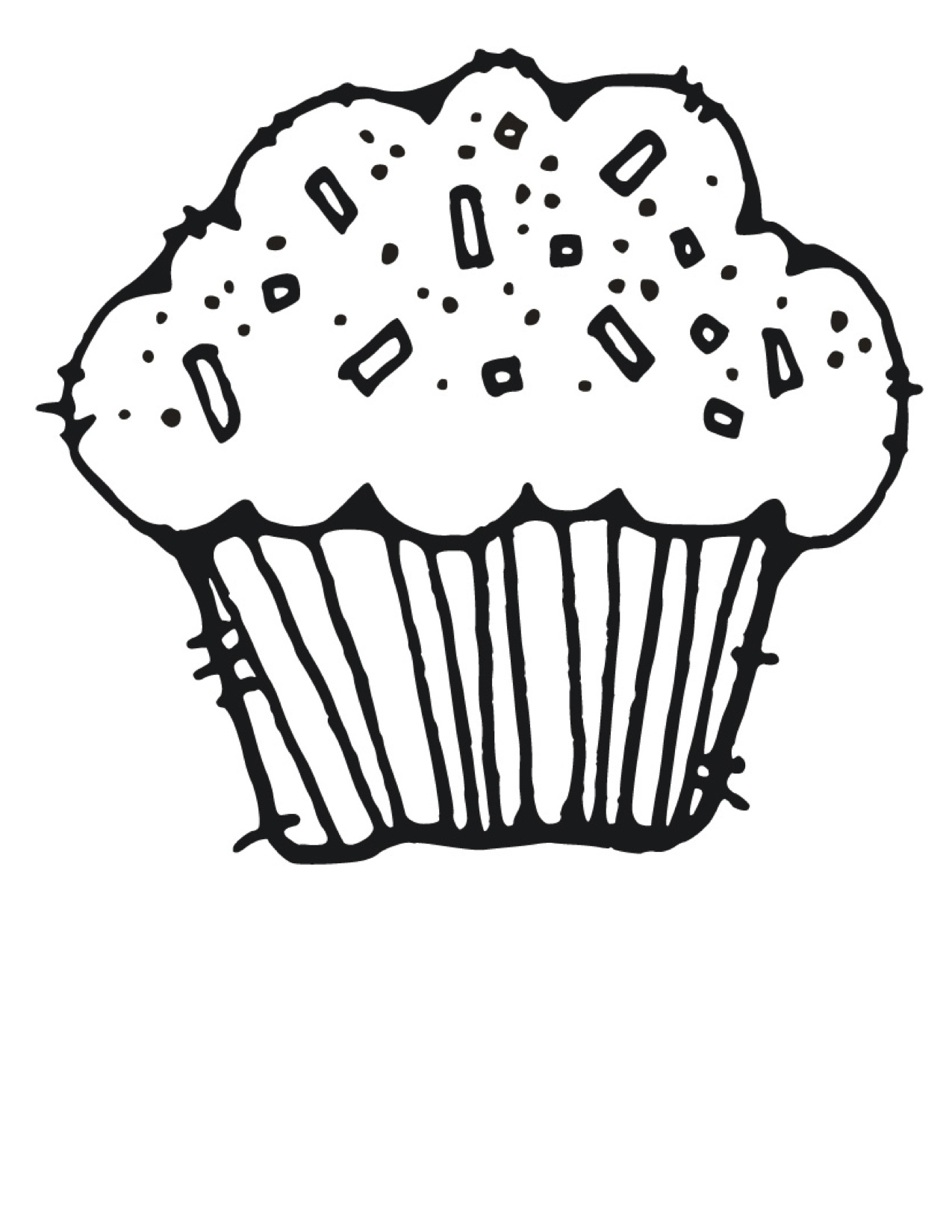 Cupcake Clipart Coloring Page 20 Free Cliparts
