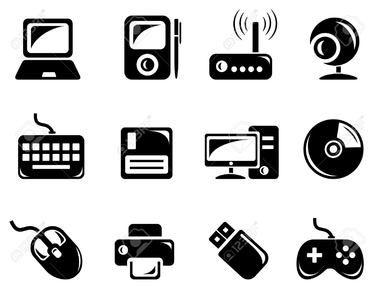 Computer Accessories Clipart
