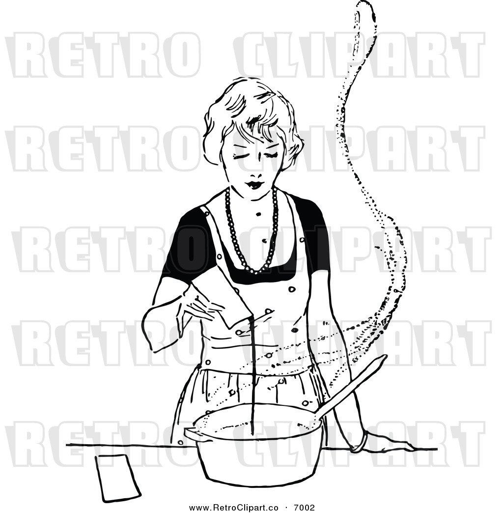 Cooking Black And White Clipart