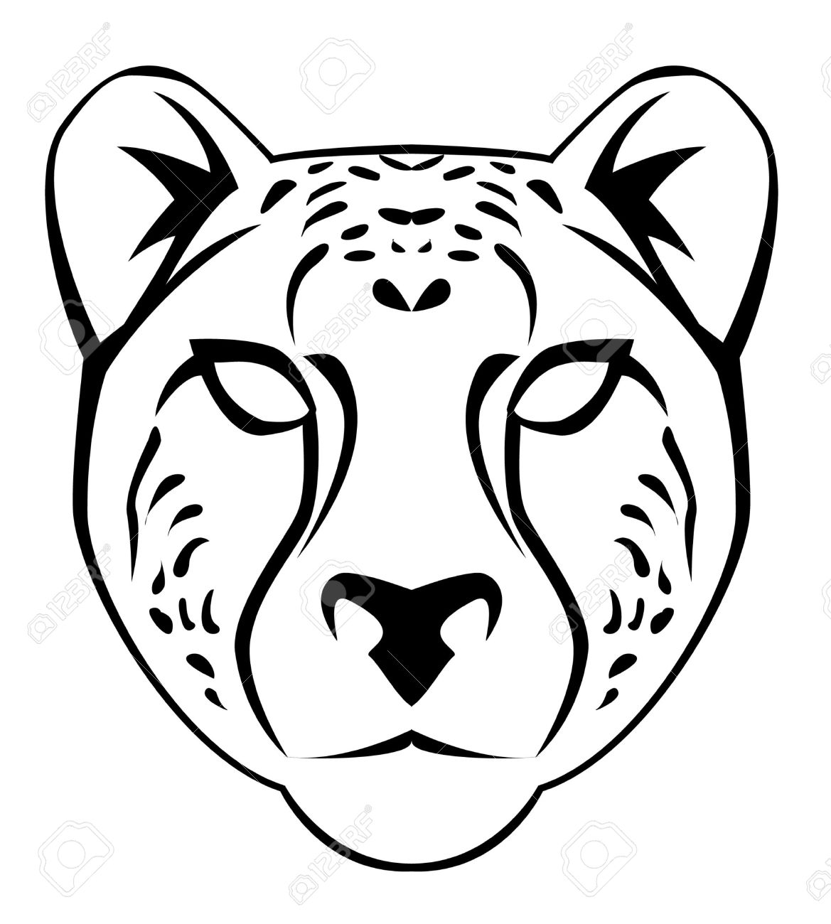 Cougar Face Clipart