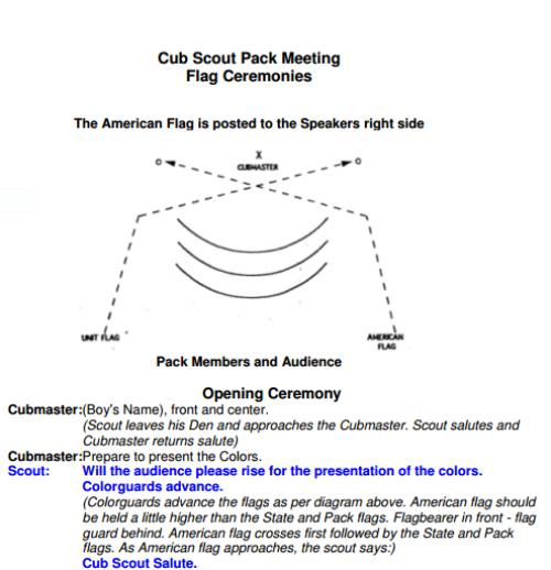 Cub Scout Flag Ceremony Clipart Clipground