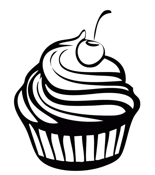 Cupcake Clipart Coloring Page Clipground