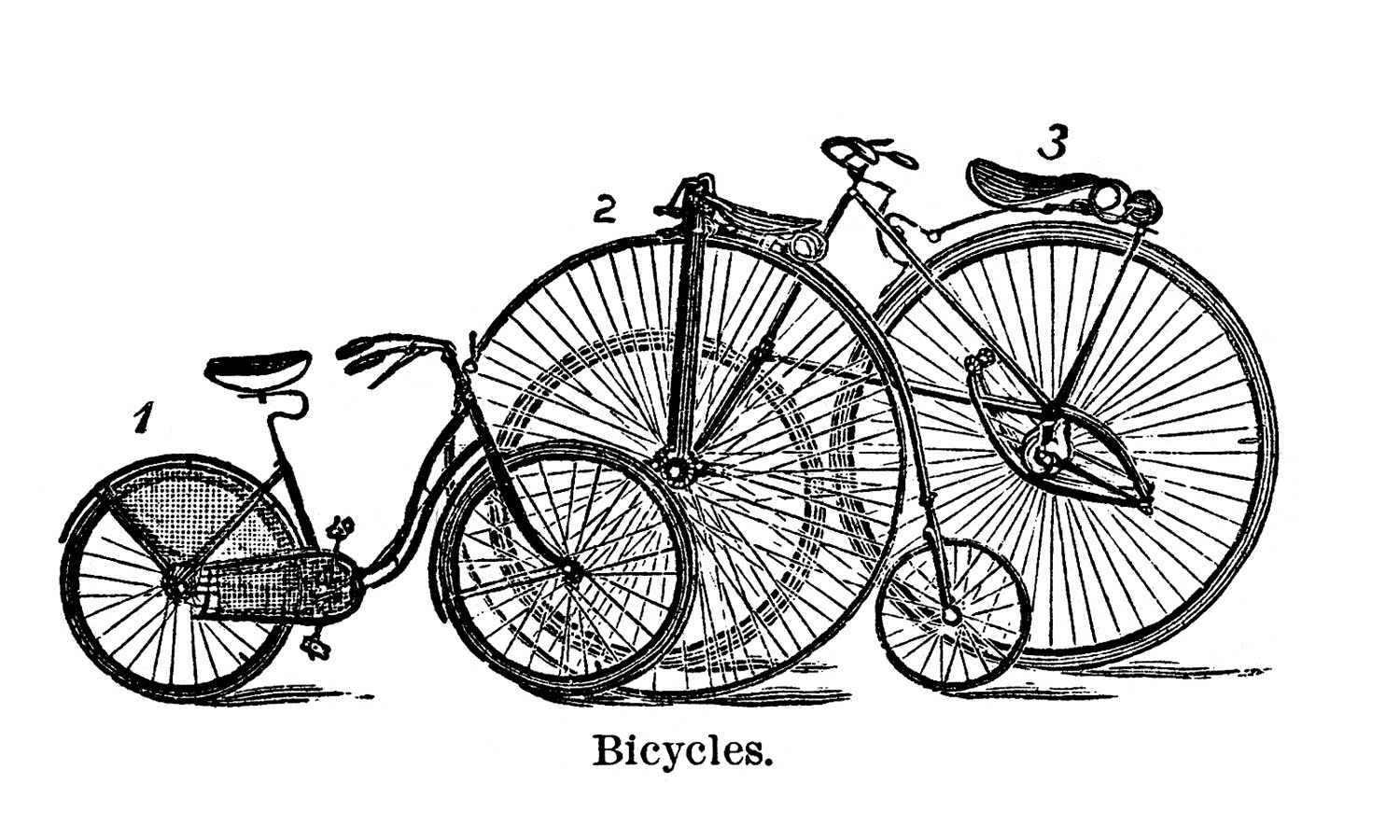 Cute Antique Bicycle Clipart