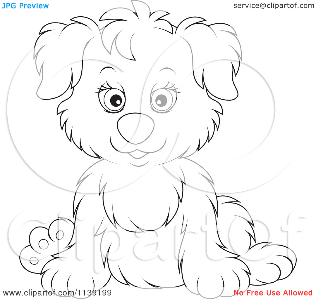 Cute Puppy Cuddling Clipart Black And White 20 Free