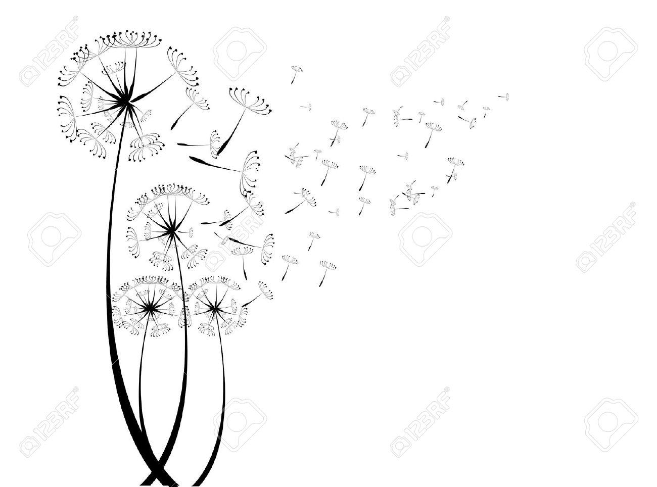Dandelion Fluff Clipart