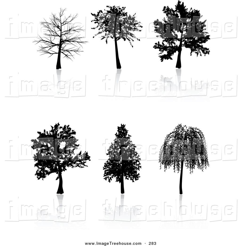 Dark Bush And Trees Clipart