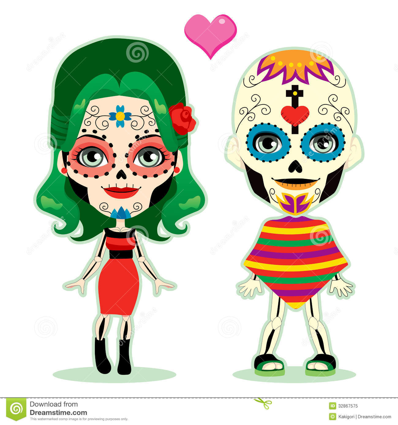 Day Of The Dead Girl Clipart Clipground
