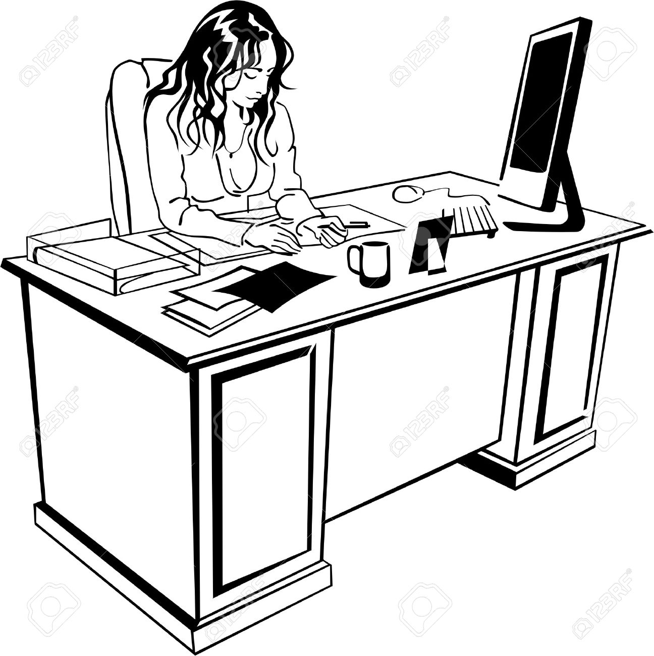 Desk Clerk Clipart 20 Free Cliparts