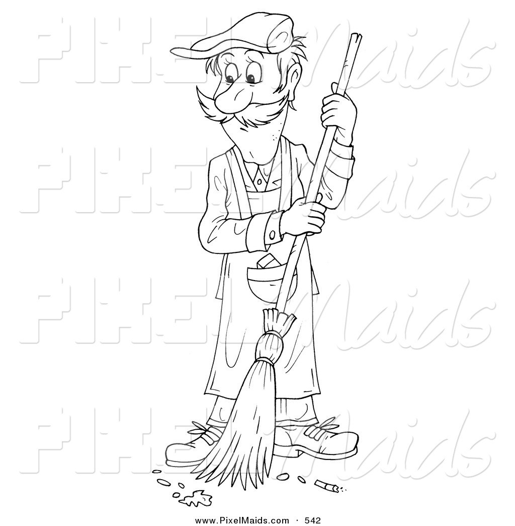 Sel Mechanic Clipart Color Pages