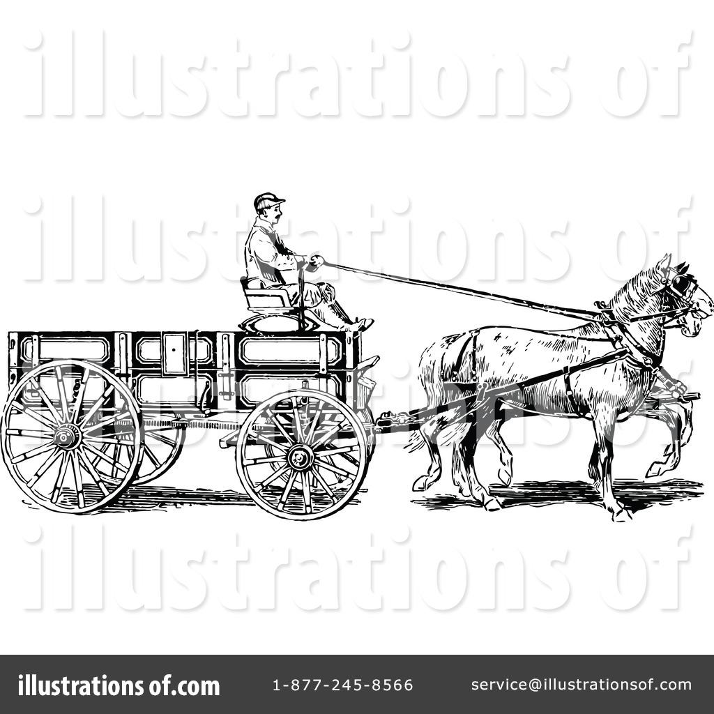 Donkey Carts Clipart