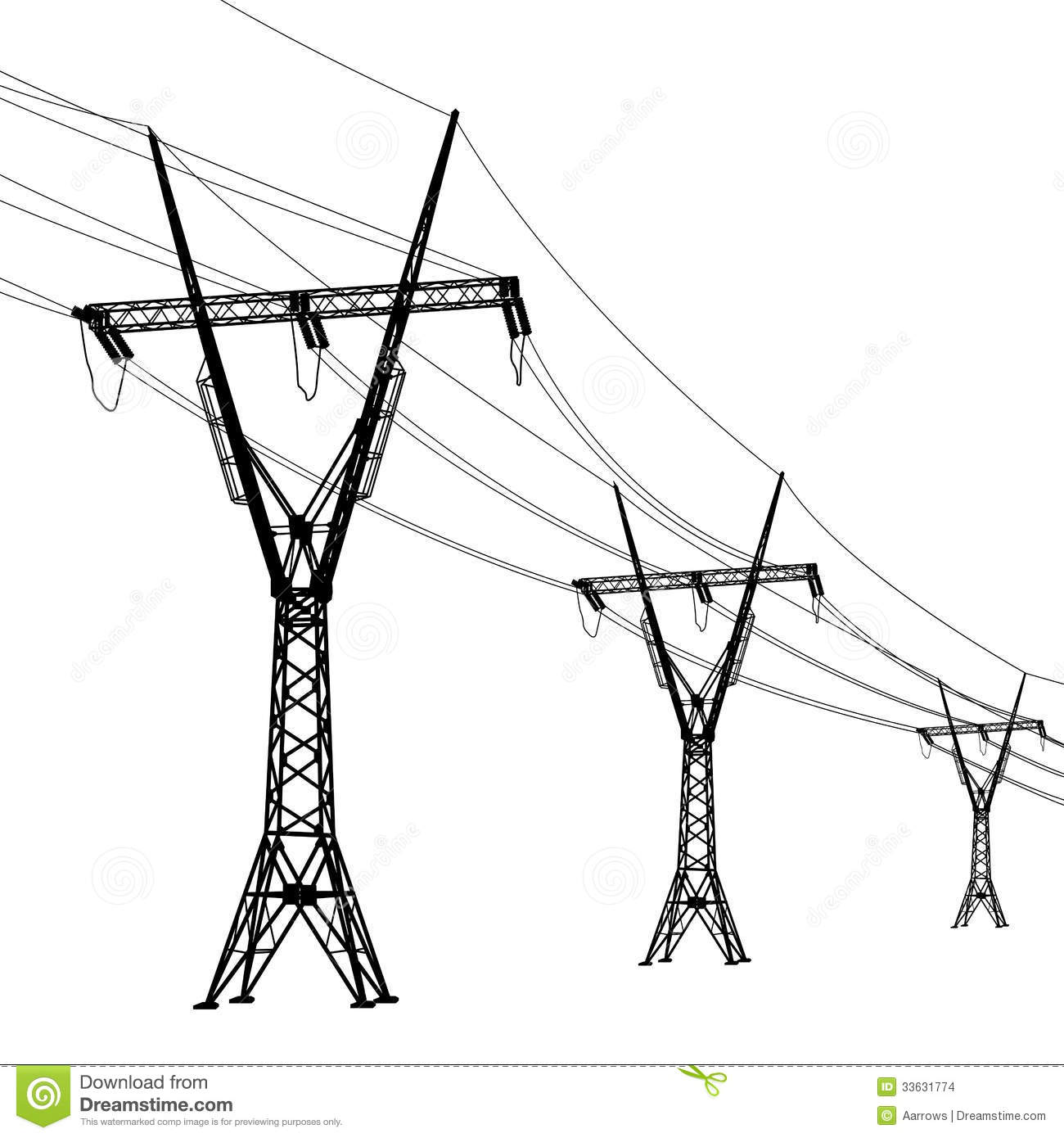 Overhead Power Line Clipart
