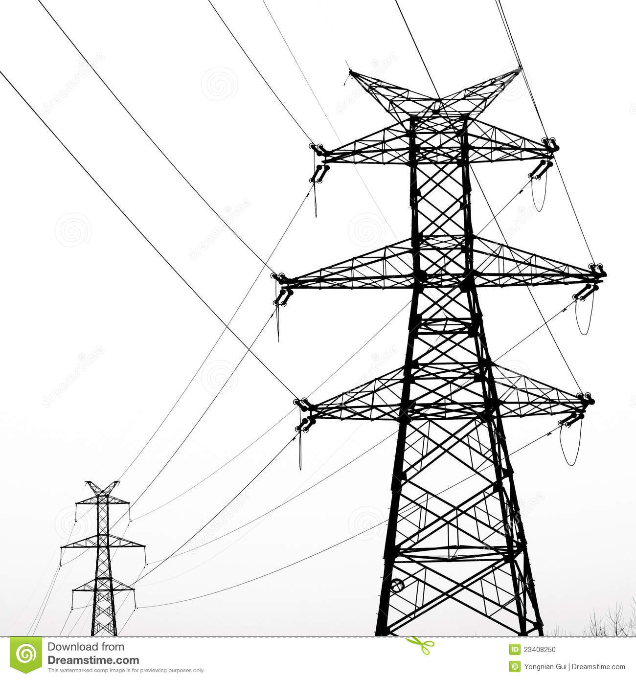 Electrical Towers Clipart