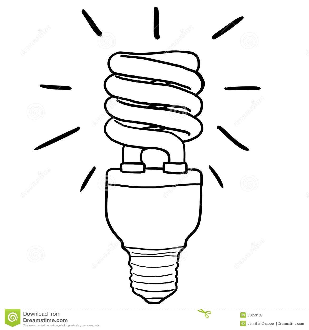 Energy Saving Lamp Clipart